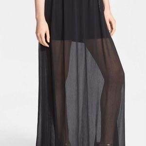 Alice + Olivia Chiffon maxi skirt. New with Tags.